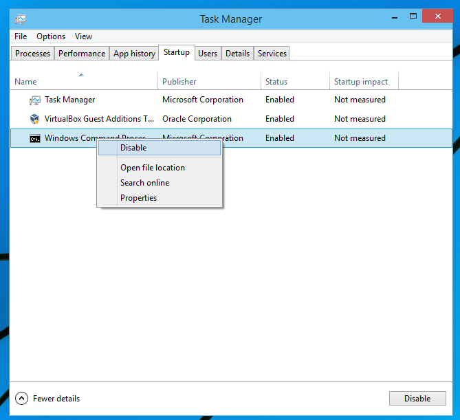 clean up auto-load of Windows