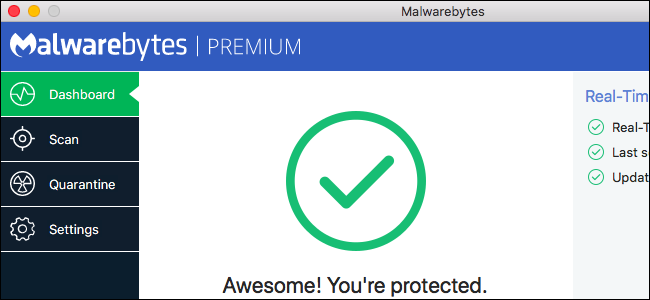 Scan for malware and adware