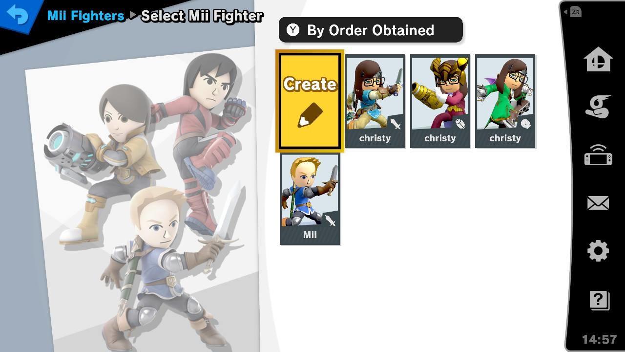 super smash bros. ultimate Create a fighter