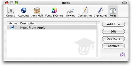 mac mail rules