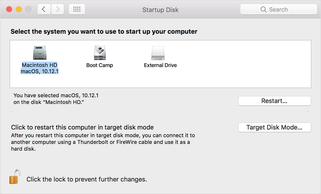 start up disk