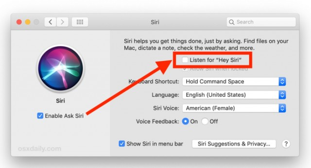 "Select the listen button ""Hey Siri"""