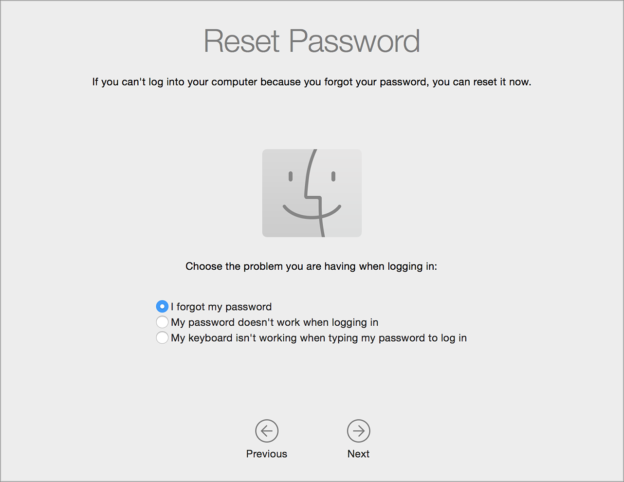 reset the password using your Apple ID