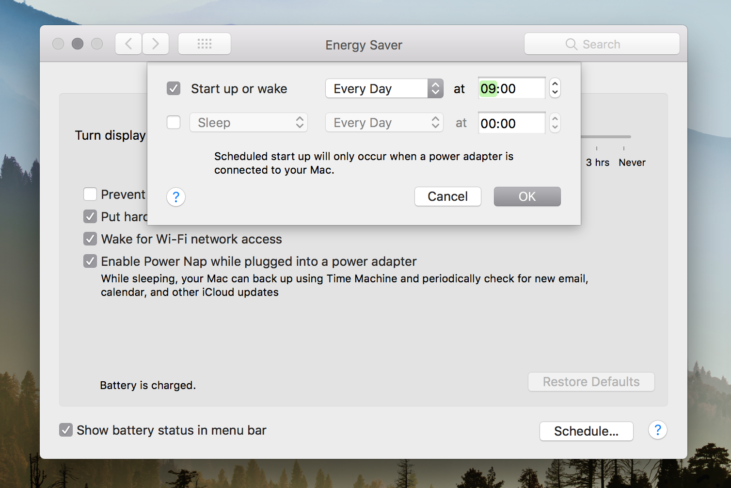 macbook Energy Saving