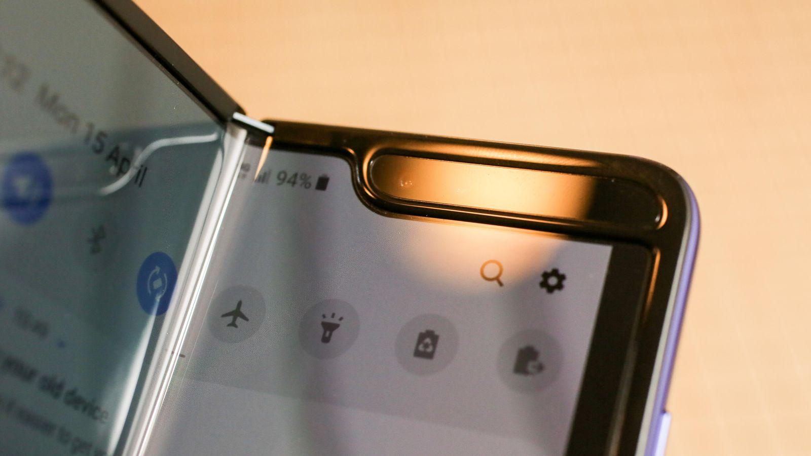 Samsung Galaxy Fold with broken screens