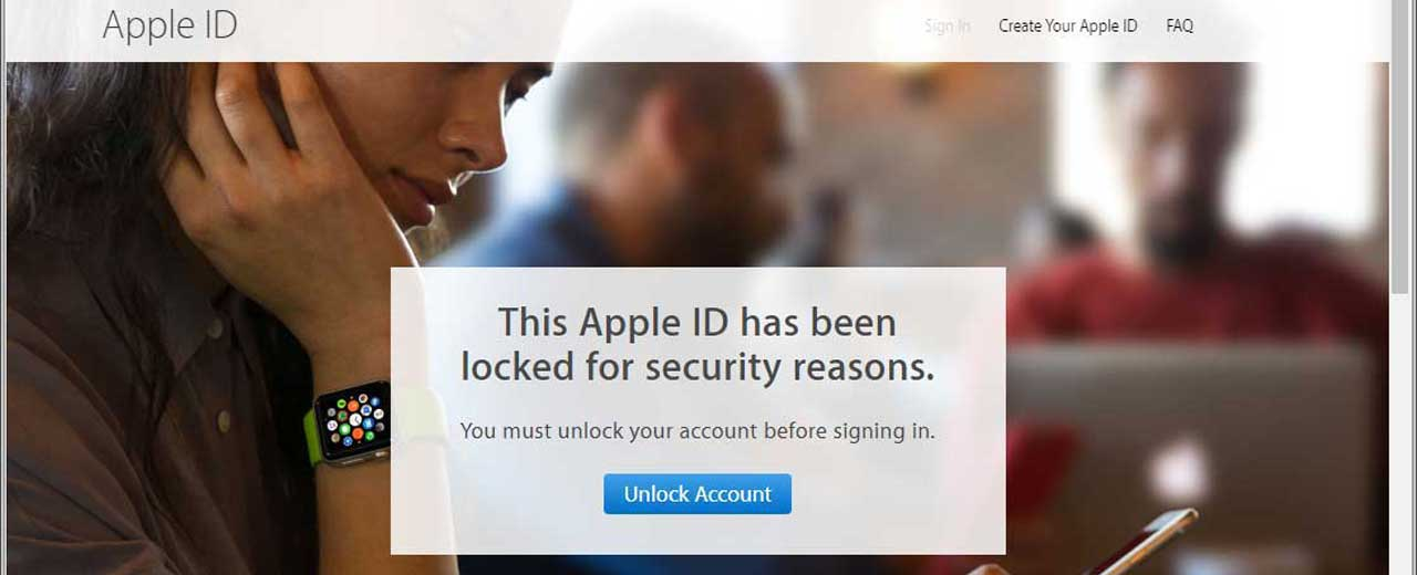 blocked Apple ID