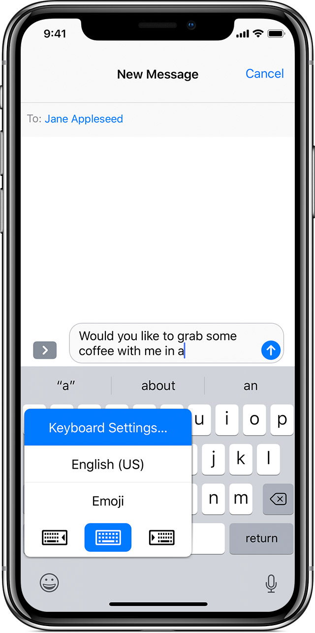 change the keyboard language