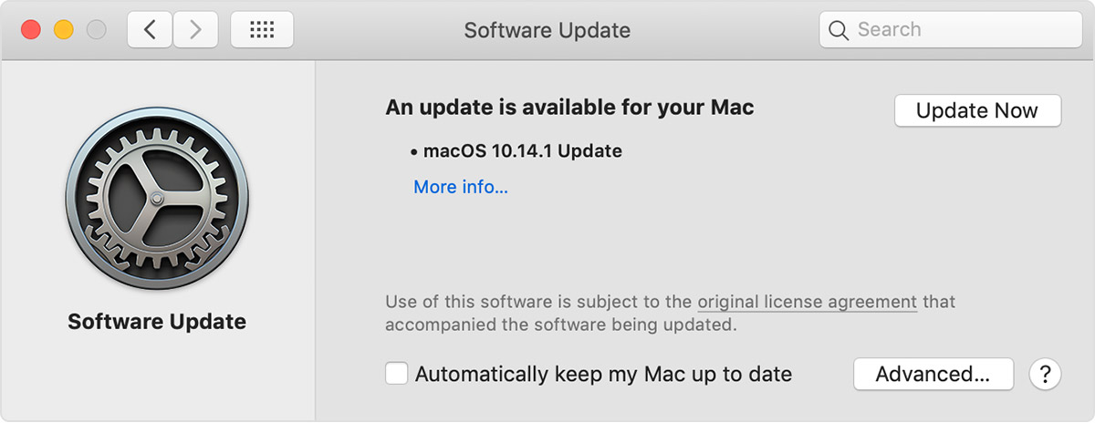 software update for macOS