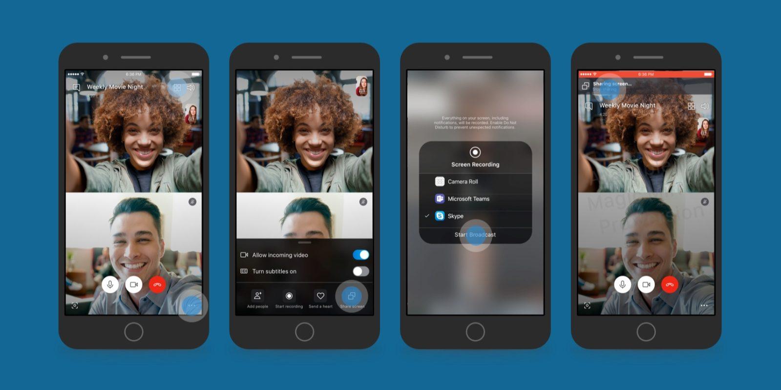 Skype Beta screen sharing