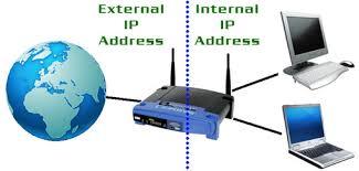 Internal and external IP addresses