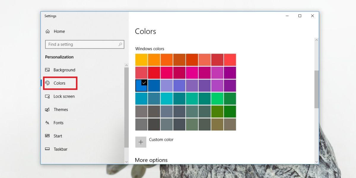 dark mode of Windows 10