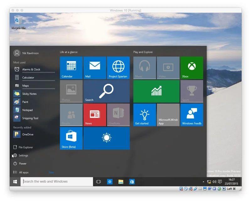 Run Windows in a VM: Software